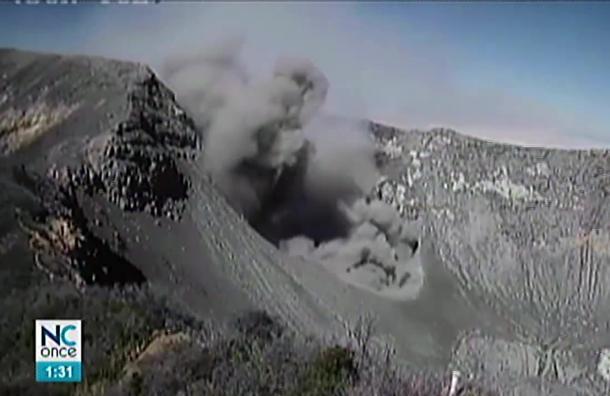 Volcán Turrialba erupcionó hoy