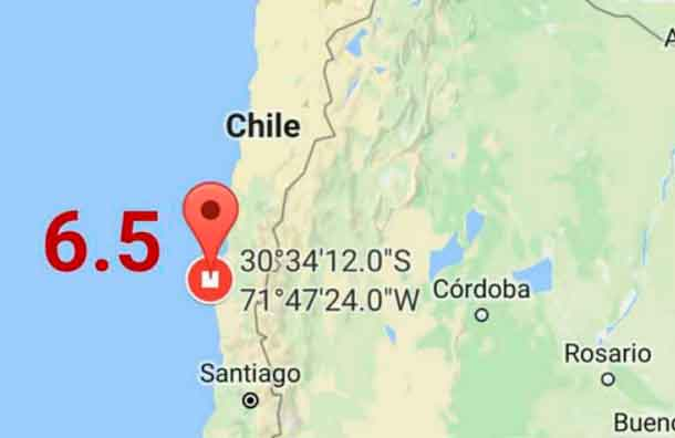 Terremoto de 6,3 sacudió la zona central de Chile