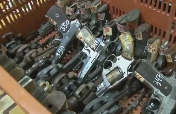 550 armas decomisadas serán destruidas en los próximos días