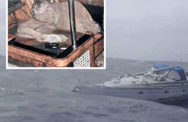 El momento en que fue hallado el barco del capitán momificado