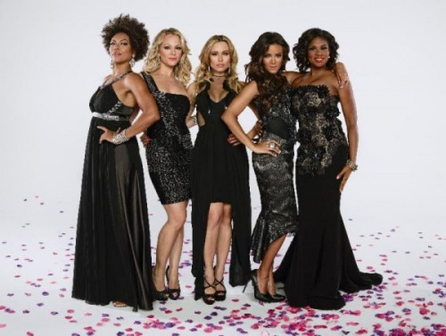 """(left to right) April Parker-Jones, Amanda Clayton, Zulay Henao, Heather Hemmens & Edwina Findley  from Tyler Perry's """"If Loving You is Wrong"""""""