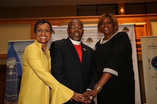 "Judge Glenda Hatchett; Bishop Neil Ellis; Ambassador Suzan ""Sujay"" Johnson Cool Following GUF Press Conference"